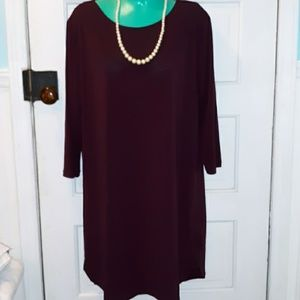 H&M soft burgundy dress